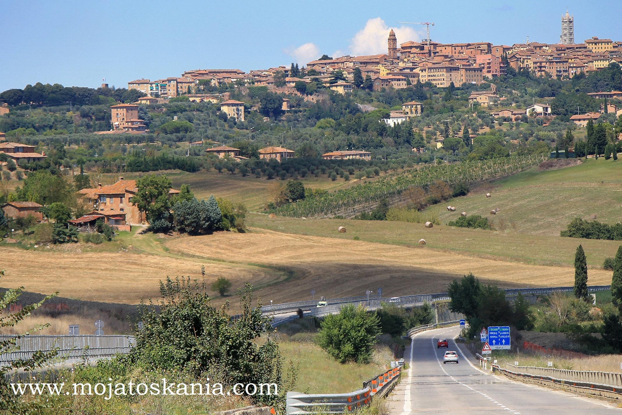 ikona Siena z drogi z Grosetto