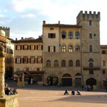 Miasto Arezzo, felicità i wiosna.