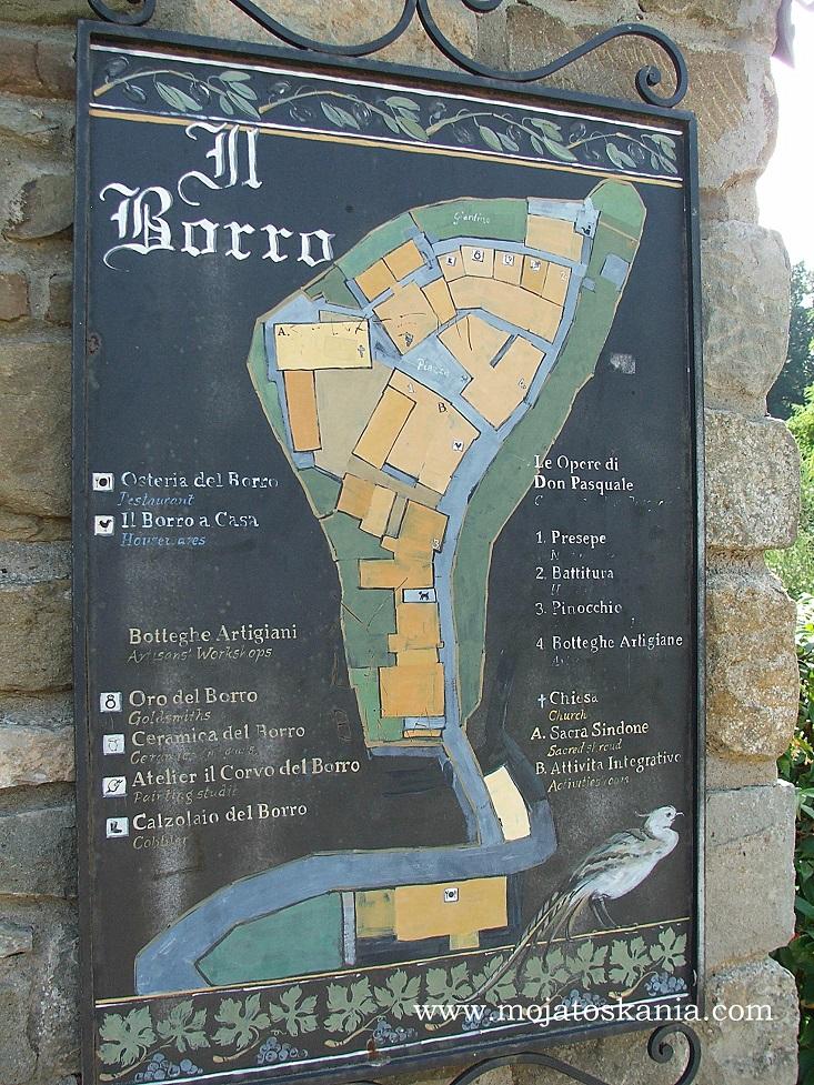 25 Borro mapka