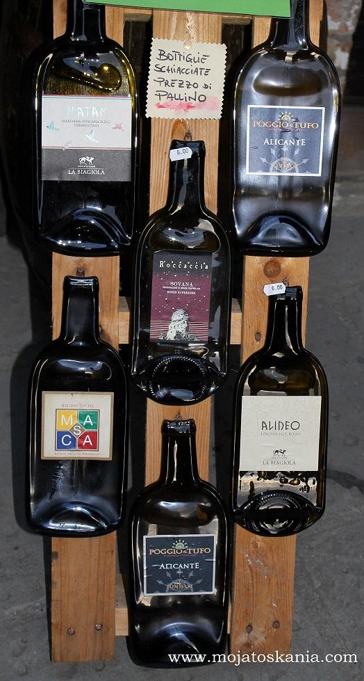 Pitigliano spłaszczone butelki